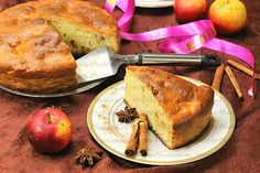 быстрый пирог на кефире с яблоками