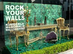 "Yes, you can rock your walls! The new ""Glam Rock"" Malachite & Gold…"