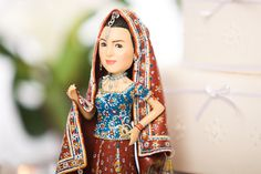 Indian Wedding Bride Figurine (Front View) by Topperland Personalised gift ( figurines , toppers, via Flickr