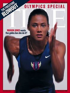 Marion Jones - Sydney 2000 Olympics - Time Magazine Cover september 11, 2000