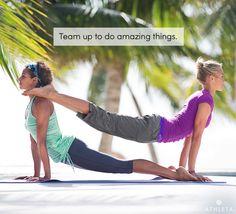 Team up to do amazing things. #powertotheshe  Athleta Catalog