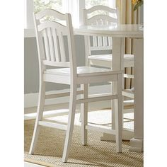 Home Styles White Distressed Oak Bar Stool - Free Shipping Today - Overstock.com - 14191137