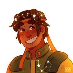Voltron character constellations. Hunk.