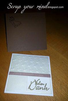 Hochzeit, geprägtes Papier, Dankeskarte