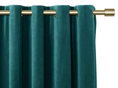 Julius Velvet Eyelet Lined Curtains Teal Blue, 228 x 228cm