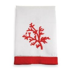 Mud Pie Gifts | 107240 Coral Linen Towel