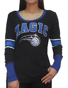 6d9a4becb77 Orlando Magic NBA Womens Ribbed Long Sleeve Shirt Vintage Look L Black --  You can get additional details at the image link.