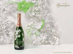 The Perrier-Jouet Paper Print Ad is Creatively Catered #date #drinks trendhunter.com