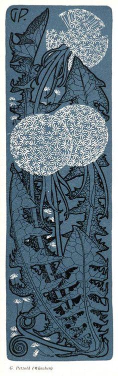 [Dandelion illustration, Art Nouveau], G. Petzold, München (Munich), for…