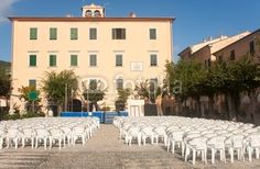 Chairs In The Church Square, Marciana Marina