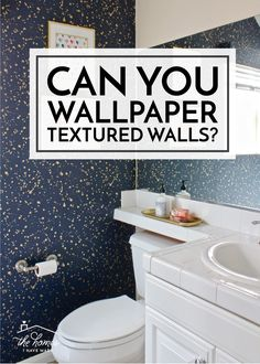 You're loving the wallpaper trend, but all your walls are textured! Can you wallpaper textured walls? Click here to find out! Do It Yourself Projects, Textured Walls, My House, How To Find Out, Homes, Canning, Wallpaper, Inspiration, Diy