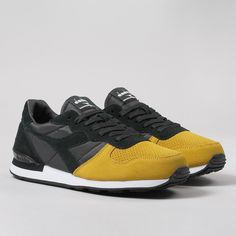 Diadora Camaro Double Shoes - Black/Golden Rod