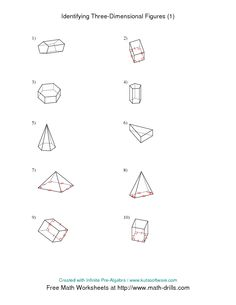 math worksheet : classifying prisms and pyramids a  new math worksheet  : Maths Pyramids Worksheets