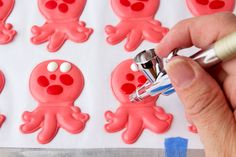 Octopus Royal Icing Transfer and Template thebearfootbaker.com