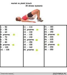 ćwiczenia na płaski brzuch - Szukaj w Google Weight Loss Inspiration, Fitness Inspiration, Gym Time, Easy Workouts, Workout Challenge, Health Fitness, Lose Weight, Challenges, Yoga