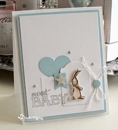 Made by Sandra: Sweet Baby! Baby Boy Cards, New Baby Cards, Baby Shower Cards, Baby Scrapbook, Scrapbook Cards, Baby Kind, Card Making Inspiration, Card Tags, Kids Cards