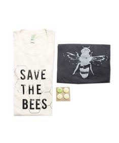 Mens Bee Shirt Gift Bundle - Small, Medium, Large, XL -  Organic Cotton - Eco-Friendly Gift Bundle