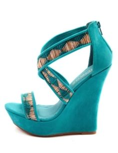 45f25ebb84f looove these wedges! why do they make me think of pocahontas    Turquoise
