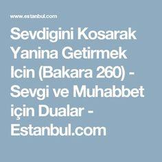 Sevdigini Kosarak Yanina Getirmek Icin (Bakara 260) - Sevgi ve Muhabbet için Dualar - Estanbul.com