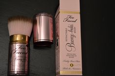 Too Faced Teddy Bear Brush....this brush is pricey, but sooooo worth it!  This is definitely the best brush I have ever used...gives you an airbrush finish when applying blush and/or bronzer.