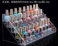 El tamaño grande de acrílico organizador cosmético Esmaltes Organizador Pantalla de cristal caja de almacenamiento polaco