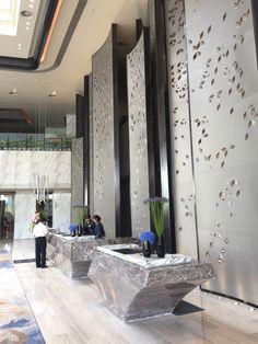 Hotel Reception Desk, Reception Desk Design, Lobby Reception, Hotel Lobby Design, Small Toilet Design, Bathroom Design Small, Corporate Interiors, Hotel Interiors, Exterior Design