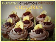 Pint Sized Baker: Banana Whiskey Cupcakes