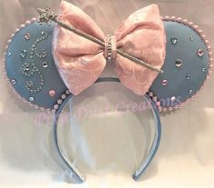 Loveable Fairy Godmother Minnie Ears #diy #mickeyears #disney #minnieears #disneyears #craft #disneycraft