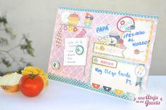 Una abeja en mi gaveta: DIY: Planificador de cocina con papel de scrap