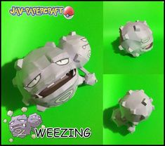 Pokemon - Weezing Ver.3 Free Papercraft Download - http://www.papercraftsquare.com/pokemon-weezing-ver-3-free-papercraft-download.html#Pokemon, #Weezing