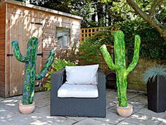 Craft Tutorials Galore at Crafter-holic!: Paper Mache Cacti