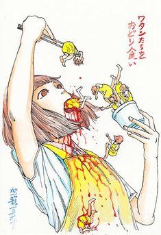 Horror e erotismo nas artes de um japonês