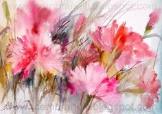 Three Carnations / Tr s Cravos, painting by artist Fabio Cembranelli