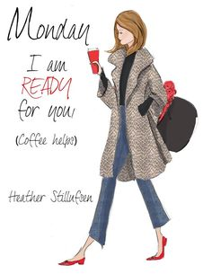 I'm ready for you (and coffee helps) ☕️❤️ Foto Fashion, Fashion Art, Trendy Fashion, Fashion Trends, Fashion Designer Quotes, Fashion Quotes, Art Quotes, Funny Quotes, Inspirational Quotes