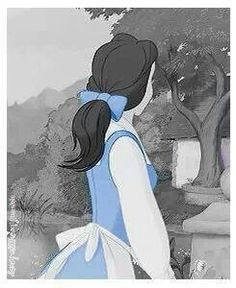 Fun fact:  Did you know belle is the only person to wear blue in the village?