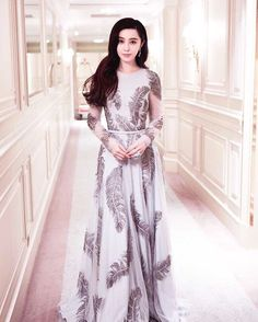 Fan Bingbing wears #ralphandrusso Capsule Ready-to-Wear Collection to the Festival du Cinéma #Cannes2017