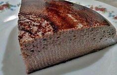 Flan de cacao sin azúcar en el microondas