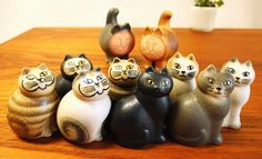 lisa larson♥ ceramic cats