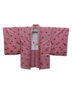 ☆ New Arrival☆ 'Falling Petals' Pinky #red #silk #vintage #Japanese #shibori #tie-dyed #haori #kimonojacket from #FujiKimono http://www.fujikimono.co.uk/fabric-japanese/falling-petals.html