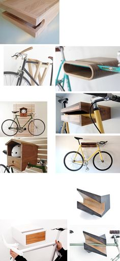 bici bike bicycle hanger hang colgador (Furniture Designs Shelves)