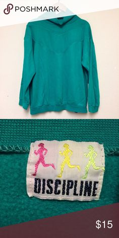 LAST CHANCE Vintage 1980s green sweat shirt Vintage 1980s green sweat shirt. A few faint spots. Overall great condition. Fits a traditional women's L. Vintage Tops Sweatshirts & Hoodies