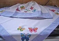Resultado de imagem para toalha cozinha com aplique