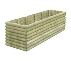 vidaXL Jardinera de madera de pino impregnada 206x50x48 cm | vidaXL.es