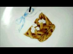 Porcelain painting baskets 絵付けで描くカゴとリボン - YouTube