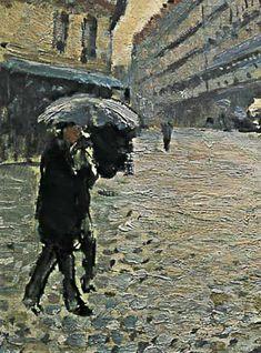 Gustave Caillebotte-Paris, a Rainy Day