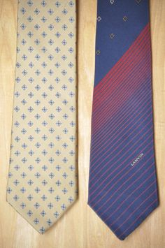 Check out this item in my Etsy shop https://www.etsy.com/listing/511329906/set-of-2-vintage-lanvin-neck-ties-silk #lanvin #vintageties #necktie #bowtie #mensstyle #mensfashion #vintagelanvin #skinnyties #tiepin #lapelpin #pocketsquare