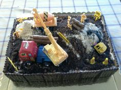 Trucks birthday Cake