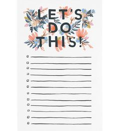 RIFLE PAPER Let's do this notepad