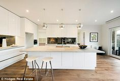 kitchen island with butlers pantry - Google Search