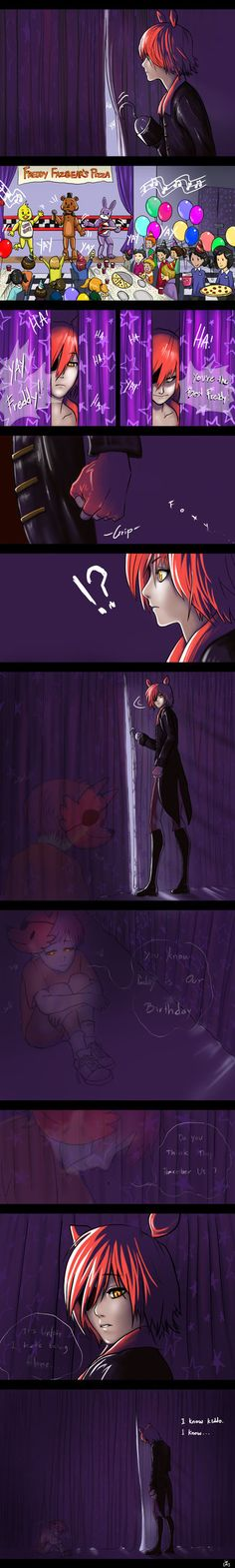 So sad *hugs Foxy* Happy birthday *give him a present of a new hook and eye patch*